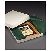 "Bags & Bows® 16"" x 16"" x 2 1/2"" Two-Piece Gift Boxes, White, 50/Pack"