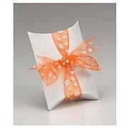 """Kraft Paper 1""""H x 3""""W x 3.5""""L Pillow Boxes, White, 250/Pack"""