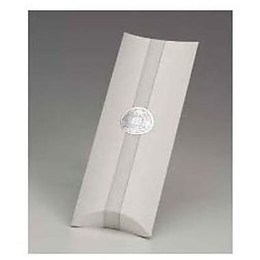 Boîtes en forme d'oreiller, 1 1/2 x 4 1/2 x 12 po, blanc, 100/paquet