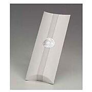"""Kraft Paper 1.5""""H x 4.5""""W x 12""""L Pillow Boxes, White, 100/Pack"""
