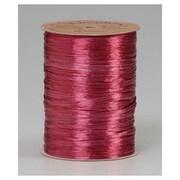 "1/4"" x 100 yds. Pearlized Wraphia Ribbon, Red Raspberry"