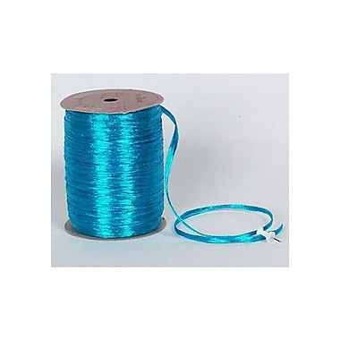 Graphic – Ruban perlé, 1/4 po x 100 vg, turquoise, paquet de 4