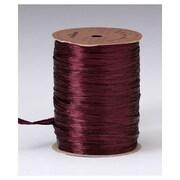 """1/4"""" x 100 yds. Pearlized Wraphia Ribbon, Wine"""