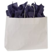 "16"" x 6"" x 12 1/2"" High Gloss Paper Shoppers, White"