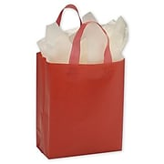 "Bags & Bows® 8"" x 4"" x 10"" Color-Frosted High-Density Shopperss, 250/Pack"