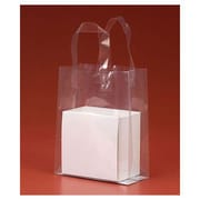 """8"""" x 4"""" x 10"""" Polypro Shoppers, Clear"""