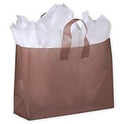 "Bags & Bows® 16"" x 6"" x 12"" Frosted High Density Shoppers, 250/Pack (268-160612-44)"
