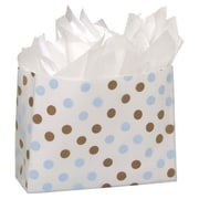"Dots Frosted Flex Loop Shoppers, 16"" x 6"" x 12"""