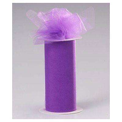 "6"" x 25 yds. Sheer Tulle Ribbon, Lavender (280-0625-25)"