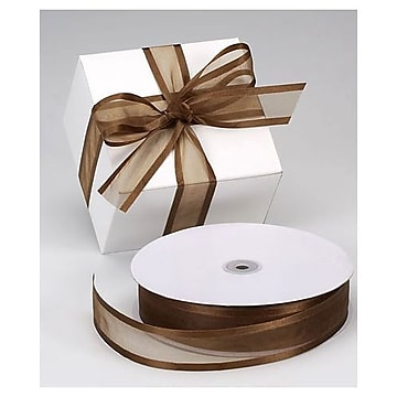 1 1/2″ x 100 yds. Organza Satin Edge Ribbon, Chocolate