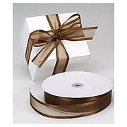 "1 1/2"" x 100 yds. Organza Satin Edge Ribbon, Chocolate"