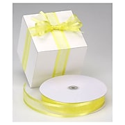 "1 1/2"" x 100 yds. Organza Satin Edge Ribbon, Yellow"