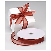 "1 1/2"" x 100 yds. Organza Satin Edge Ribbon, Cinnamon"