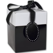"Clay Coat News Back 3.5""H x 3""W x 3""L Gift Boxes, Black, 10/Pack"