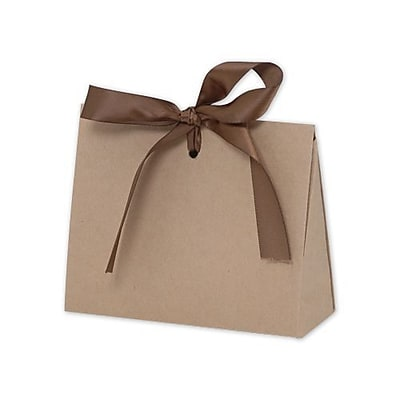 """Paper 3.75""""H x 2""""W x 4.5""""L Solid Gloss Gift Card Holders, Brown, 100/Pack"""