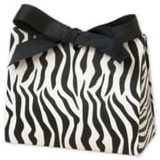 "4 1/2"" x 2"" x 3 3/4"" Matte Laminated Purse Style Gift Card Holder, Zebra"