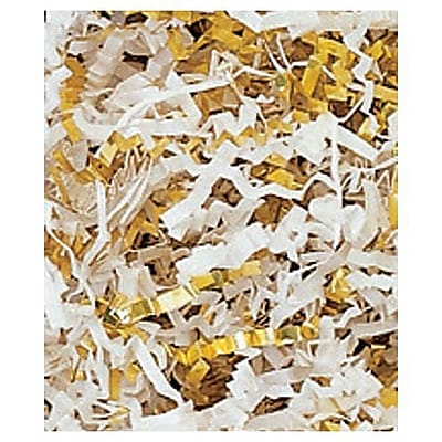 10 lbs. Metallic Crinkle Cut Fill, Gold/White Blend (431-12-GB)