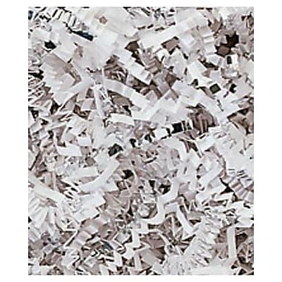 10 lbs. Metallic Crinkle Cut Fill, Silver/White Blend