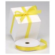 "7/8"" x 100 yds. Dyna Satin Ribbon, Yellow"