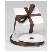 "7/8"" x 100 yds. Dyna Satin Ribbon, Chocolate"