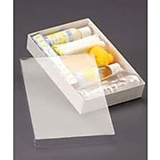 "Bags & Bows® 9 5/8"" x 6 3/8"" x 1 5/8"" Top Boxes With White Base, Clear, 50/Pack"