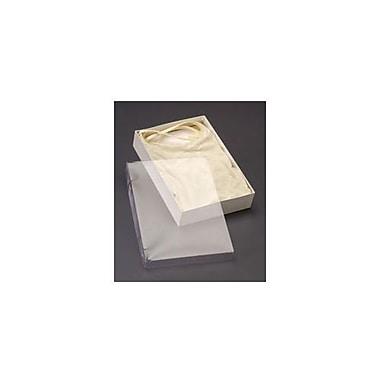 Couvert de boîte avec base blanche, 10 x 7 x 2 po, transparent, 50/paquet