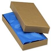 "Kraft Paper 1.5""H x 5.5""W x 11.5""L 2-Piece Apparel Boxes, Brown, 100/Pack"