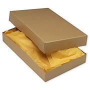 "Kraft Paper 2.5""H x 11""W x 17""L 2-Piece Apparel Boxes, Brown, 50/Pack"