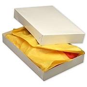 """Kraft Paper 2.5""""H x 11""""W x 17""""L 2-Piece Apparel Boxes, White, 50/Pack"""