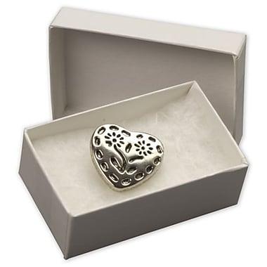 Bags & Bows - Boîtes à bijoux, 2 7/16 x 1 5/8 x 13/16 po, blanc, paq./100