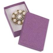 """Cardboard 1""""H x 2.13""""W x 3""""L Jewelry Boxes, Purple, 100/Pack"""
