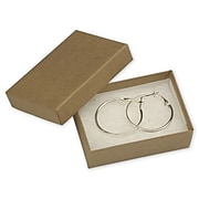 """Bags & Bows® 3 1/16"""" x 2 1/8"""" x 1"""" Kraft Jewelry Boxes, Natural, 100/Pack"""