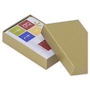 "Paper 0.75""H x 2.25""W x 3.5""L Gift Boxes, Gold, 100/Pack"