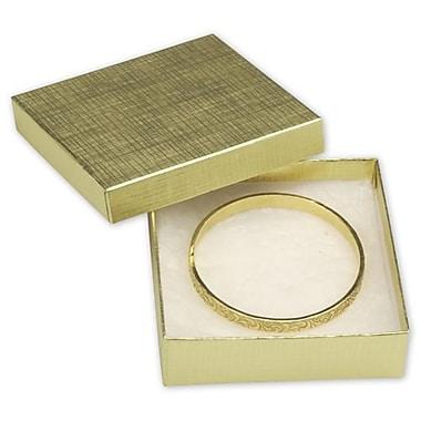 Coffrets à bijoux en lin, 3 1/2 x 3 1/2 x 1 (po), 100/paquet