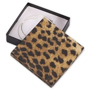 "Cardboard 0.88""H x 3.5""W x 3.5""L Leopard Jewelry Boxes, Gold/Brown, 100/Pack"