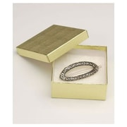 """Bags & Bows® 3 1/2"""" x 3 1/2"""" x 1 1/2"""" Linen Jewelry Boxes"""