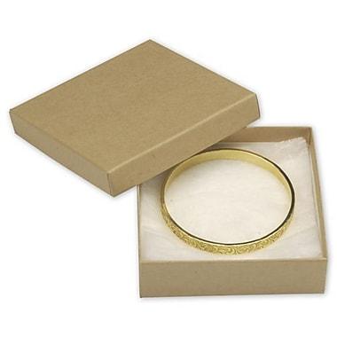 Boîtes à bijoux, 3 1/2 x 3 1/2 x 1 (po), kraft, 100/paquet