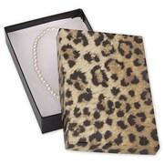 "Cardboard 1""H x 3.5""W x 5.44""L Leopard Jewelry Boxes, Gold/Brown, 100/Pack"