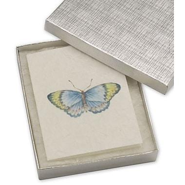 Boîtes à bijoux en lin, 6 x 5 x 1 po, argenté, 50/paquet