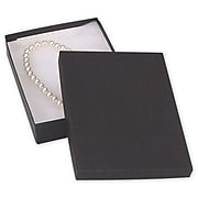 "1.25""H x 5""W x 7""L Jewelry Boxes, Black, 100/Pack"