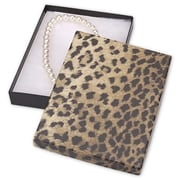"7"" x 5"" x 7/8"" Leopard Jewelry Boxes, Black/Brown"