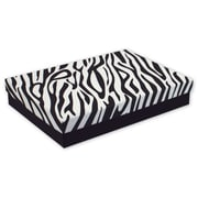 "7"" x 5"" x 1 1/4"" Zebra Jewelry Boxes, Black/White"