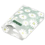 """Bags & Bows® 9"""" x 12"""" Daisy Frosted High Density Merchandise Bags, White, 500/Pack"""
