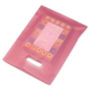 """Polyethylene 12""""H x 9""""W High Density Merchandise Bags, Cerise, 500/Pack"""