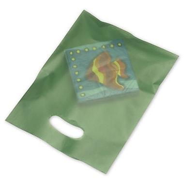 Sacs à articles à haute densité givrés, 9 x 12 (po), vert kaki, 500/paquet