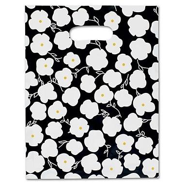 Sacs à marchandise givrés haute densité Martine, 9 x 12, noir/blanc, 500/paquet