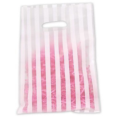 Stripe Frosted High Density Merchandise Bags, 9