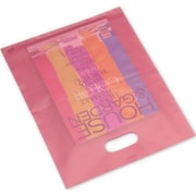 "Polyethylene 15""H x 12""W High Density Merchandise Bags, Cerise, 500/Pack"