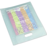 "Polyethylene 15""H x 12""W High Density Merchandise Bags, Turquoise, 500/Pack (54-1215-FHD24)"