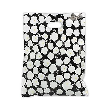 Sac d'achats givrés à haute densité Martine, 12 x 15 po, blanc sur noir, 500/paquet